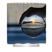 Water Planet Shower Curtain by Laura Fasulo