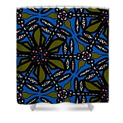 Water Plant And Dragonfly Shower Curtain