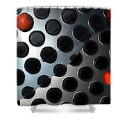 Water Plate Shower Curtain
