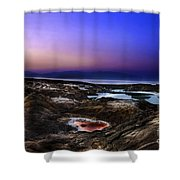 Water Pools In Sink Holes Shower Curtain by Dan Yeger