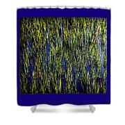 Water Reeds Shower Curtain by Karen Wiles