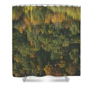 Water Reflections Abstract Autumn 2 A Shower Curtain