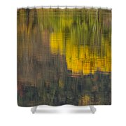 Water Reflections Abstract Autumn 2 B Shower Curtain