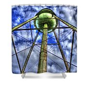 Mary Leila Cotton Mill Water Tower Art  Shower Curtain