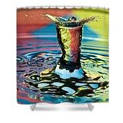 Water Splash Art Shower Curtain