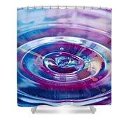Water Splash Rings Shower Curtain