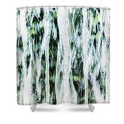 Water Spray Shower Curtain