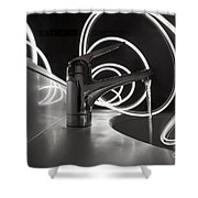 Water Supply Faucet Mixer Shower Curtain