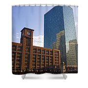 Water Taxi Fultons On The River Chicago Shower Curtain
