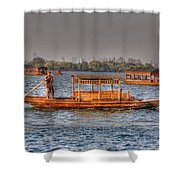 Water Taxi In China Shower Curtain