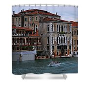Water Taxi In Venice Shower Curtain