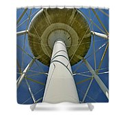 Water Tower Belly Shower Curtain