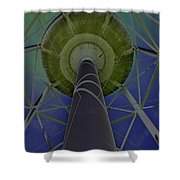 Water Tower Belly Vi Shower Curtain
