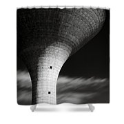 Water Tower Shower Curtain by Dave Bowman