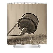 Water Tower In Deer Lodge Montana Shower Curtain