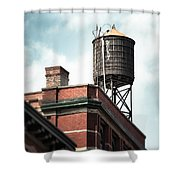 Water Tower In New York City - New York Water Tower 13 Shower Curtain