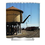 Water Tower Shower Curtain by Jeff Swan