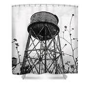 Water Tower Shower Curtain by Michael Grubb