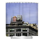Water Tower View Shower Curtain