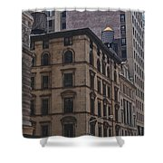 Water Towers Feed The Nyc Buildings Shower Curtain