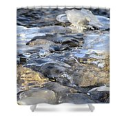 Water Under Ice Shower Curtain
