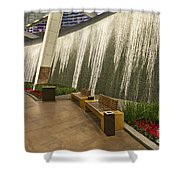 Water Wall - Aria Resort Las Vegas Shower Curtain