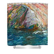 Water Water Everywhere - Section Shower Curtain