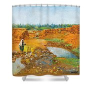 Water Water Shower Curtain