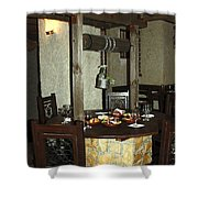 Water Well Table Shower Curtain