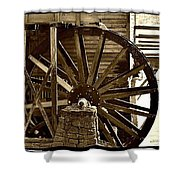 Water Wheel At The Grist Mill Shower Curtain
