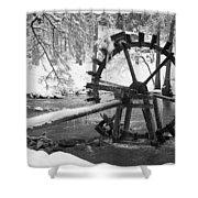 Water Wheel In Snow Shower Curtain