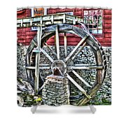 Water Wheel On Mill V2 Shower Curtain