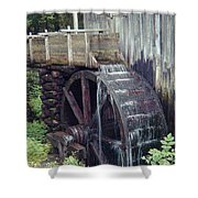 Water Wheel Shower Curtain
