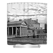 Water Works In Black And White Shower Curtain