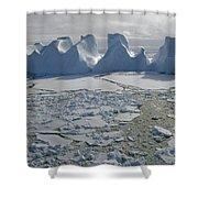 Water Worn Iceberg In Sea Ice Lazarev Shower Curtain