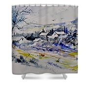 Watercolor 413010 Shower Curtain