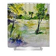 Watercolor 413022 Shower Curtain