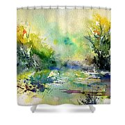 Watercolor 45319041 Shower Curtain