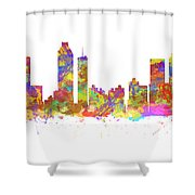 Watercolor Art Print Of The Skyline Of Atlanta Georgia Usa Shower Curtain