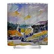 Watercolor Baillamont Shower Curtain
