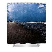 watercolor Beach Shower Curtain