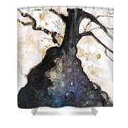 Watercolor Branches Shower Curtain by Tara Thelen