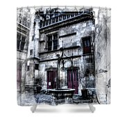Watercolor Cluny In Paris Shower Curtain