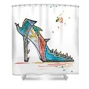 Watercolor Fashion Illustration Art Shower Curtain