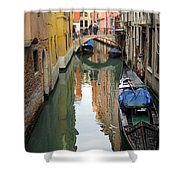 Watercolor In Venice Shower Curtain