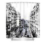 Watercolor Montmartre Shower Curtain