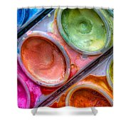 Watercolor Ovals One Shower Curtain