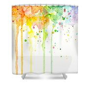 Watercolor Rainbow Shower Curtain