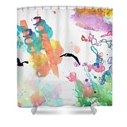 Watercolor Seagulls Shower Curtain