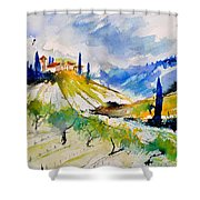 Watercolor Toscana 317040 Shower Curtain